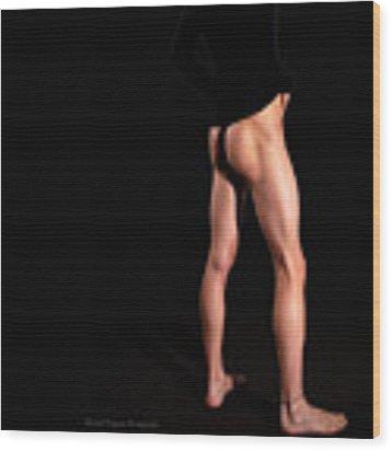 He's Got Legs Wood Print by Michael Taggart