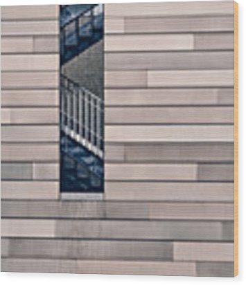Hidden Stairway Wood Print by Scott Norris