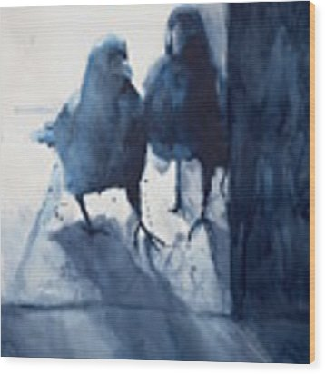Hierophony And The Crow Wood Print