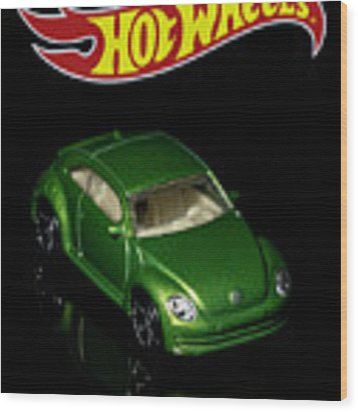 Hot Wheels 2012 Volkswagen Beetle Wood Print by James Sage