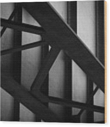 Illinois Terminal Bridge Wood Print by Matthew Chapman