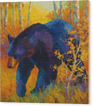 In To Spring - Black Bear Wood Print