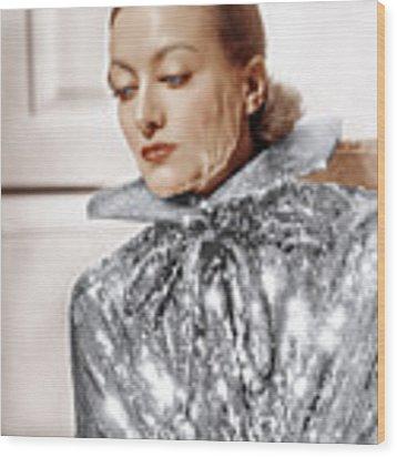 Joan Crawford, Photo By Hurrell, Ca Wood Print by Everett