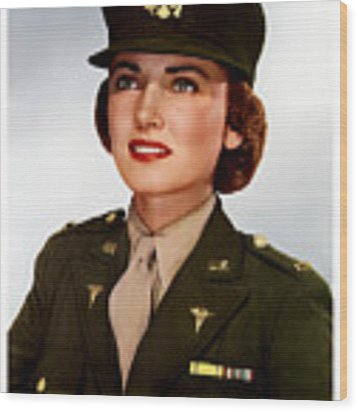 Join The Army Nurse Corps Wood Print
