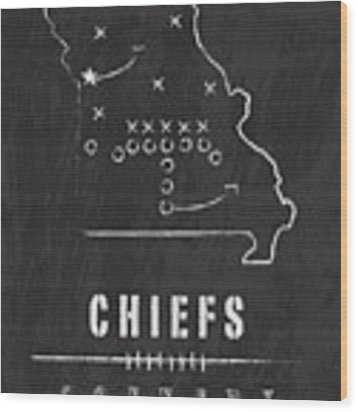 Kansas City Chiefs Art - Nfl Football Wall Print Wood Print by Damon Gray
