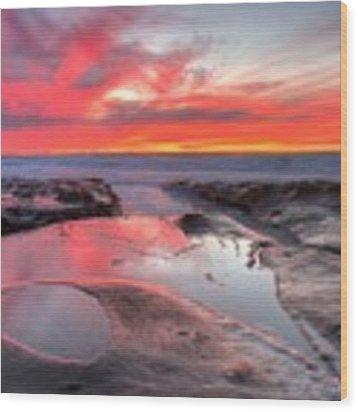 La Jolla Tidepools At Sunset Wood Print by Nathan Rupert