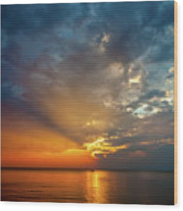 Lake Michigan Sunset Wood Print by Matthew Chapman