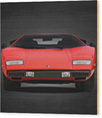 Lamborghini Countach Wood Print by Mark Rogan