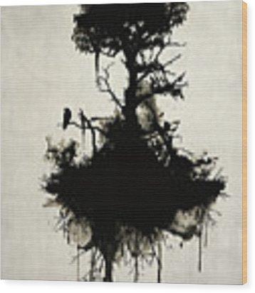 Last Tree Standing Wood Print by Nicklas Gustafsson