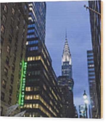 Lexington Avenue, Chrysler Building, New York  Wood Print by Juergen Held