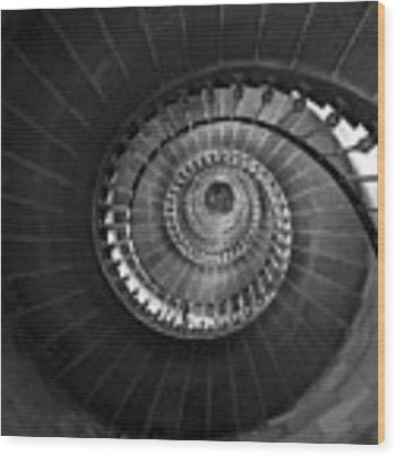 Lighthouse Spiral Staircase Wood Print by Gigi Ebert