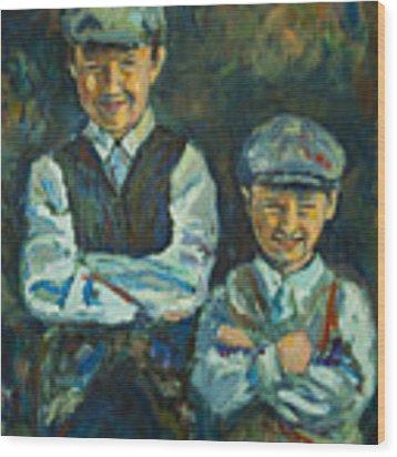 Durham Boys Wood Print by Angelique Bowman