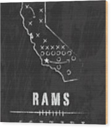 Los Angeles Rams Art - Nfl Football Wall Print Wood Print by Damon Gray