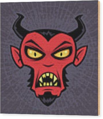 Mad Devil Wood Print