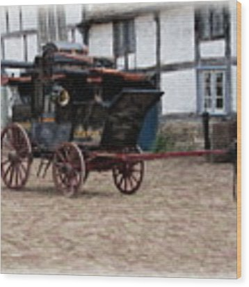 Mail Coach At Lacock Wood Print by Paul Gulliver