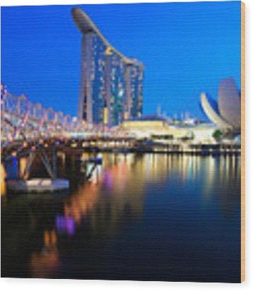 Marina Bay Sand Wood Print by Yew Kwang