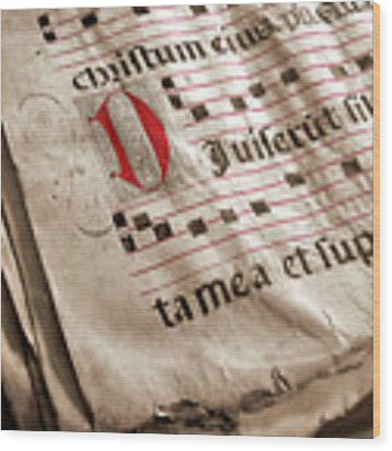 Medieval Choir Book Wood Print