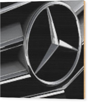 Mercedes Badge Wood Print