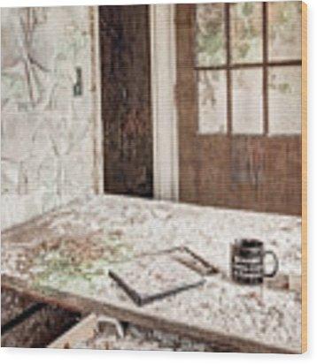 Midlife Crisis In Progress - Abandoned Asylum Wood Print by Gary Heller
