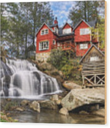Mill Shoals Falls - Wnc Blue Ridge Waterfalls Wood Print