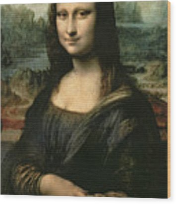 Mona Lisa Wood Print