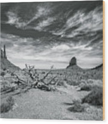 Monument Valley Wood Print by Lou Novick