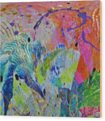 Moody Blues2 Wood Print by Kate Word