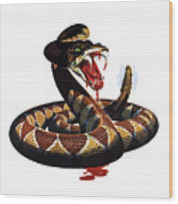 More Dangerous Than A Rattlesnake - Ww2 Wood Print by War Is Hell Store