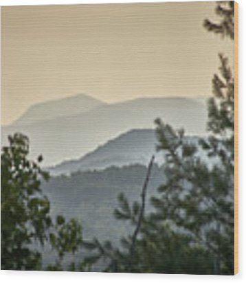 Mountains In The Distance Wood Print by Willard Killough III