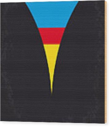 No086 My Superman Minimal Movie Poster Wood Print