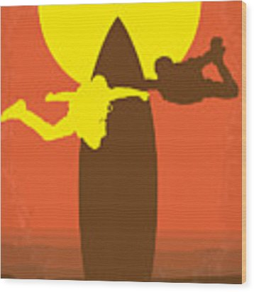 No455 My Point Break Minimal Movie Poster Wood Print by Chungkong Art