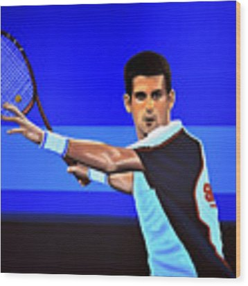 Novak Djokovic Wood Print