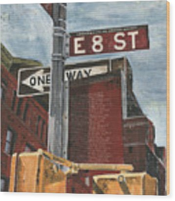 Nyc 8th Street Wood Print by Debbie DeWitt