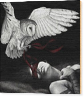 On Silent Wings Wood Print