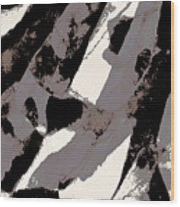 Organic 1 Abstract Wood Print by Menega Sabidussi