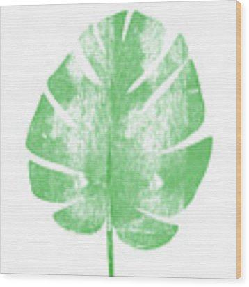Palm Leaf- Art By Linda Woods Wood Print by Linda Woods