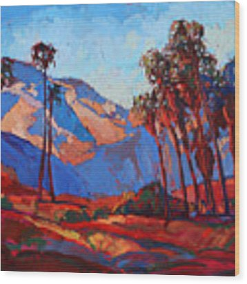 Palm Springs Color Wood Print by Erin Hanson