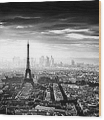 Paris Wood Print by Jaco Marx