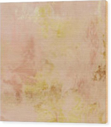 Peach Harvest- Abstract Art By Linda Woods. Wood Print by Linda Woods