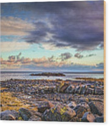 Pebbles And Sky  #h4 Wood Print by Leif Sohlman