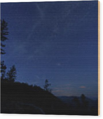 Perseids Meteor Shower 1 Wood Print by Jim Thompson