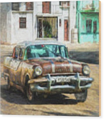 Pontiac Havana Wood Print by Lou Novick