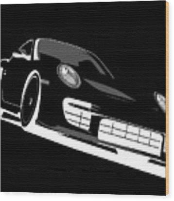 Porsche 911 Gt2 Night Wood Print