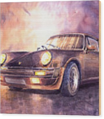 Porsche 911 Turbo 1979 Wood Print