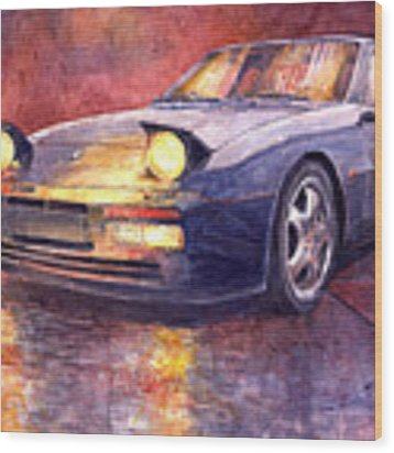 Porsche 944 Turbo Wood Print