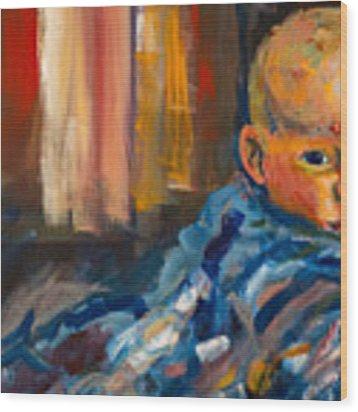 Portrait For A Mother Wood Print by Angelique Bowman