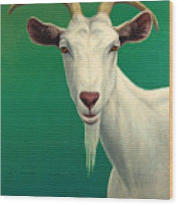 Portrait Of A Goat Wood Print