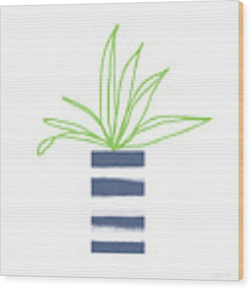 Potted Plant 2- Art By Linda Woods Wood Print by Linda Woods