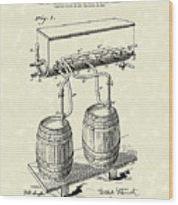 Pressure System 1900 Patent Art  Wood Print by Prior Art Design