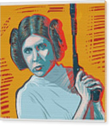 Princess Leia Wood Print by Antonio Romero